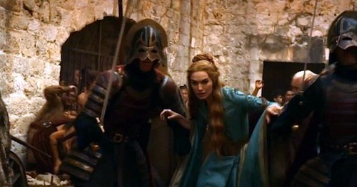Cersei and Lannister soldiers