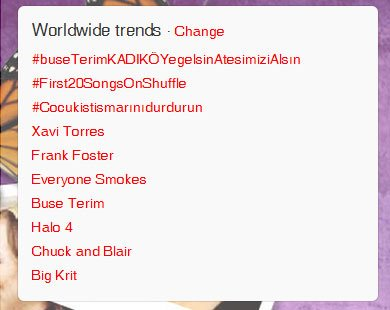 Chuck and Blair trending WW right now