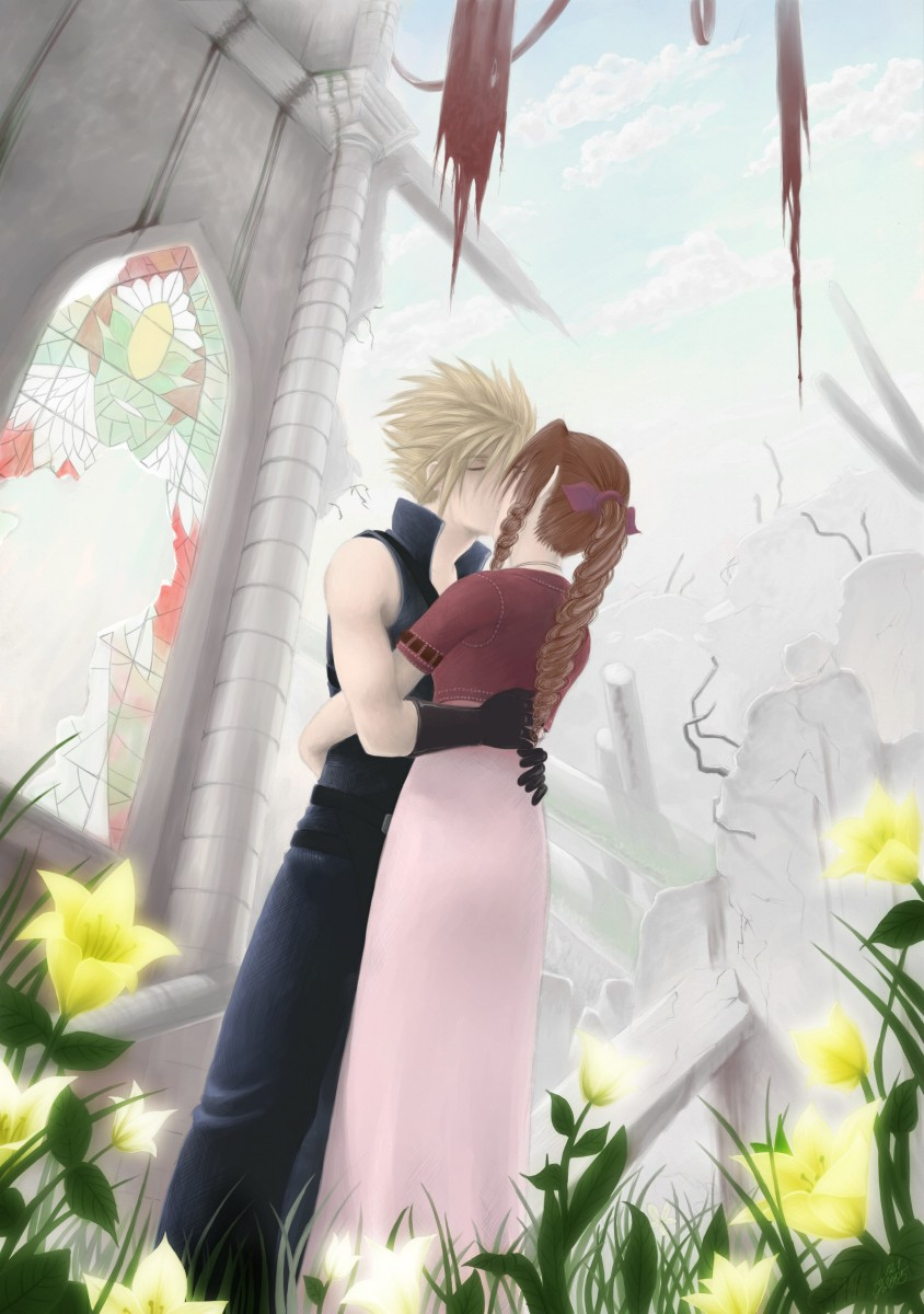 Cloud and aerith wedding