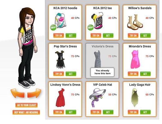 Club Items (girls)
