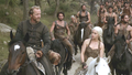 Daenerys and Jorah with Dothraki - daenerys-targaryen photo
