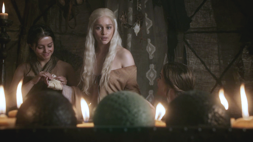 Daenerys with Irri and Doreah