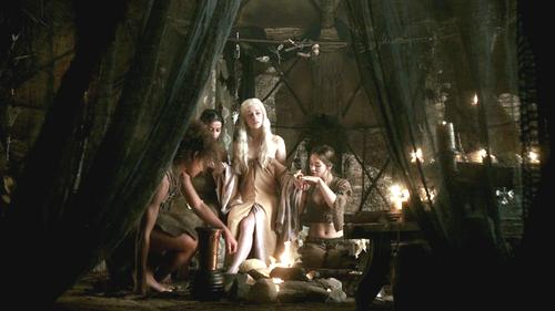 Daenerys with Irri and Doreah