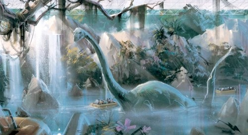 Dinosaurs wallpaper with a fountain titled Dinosaurs