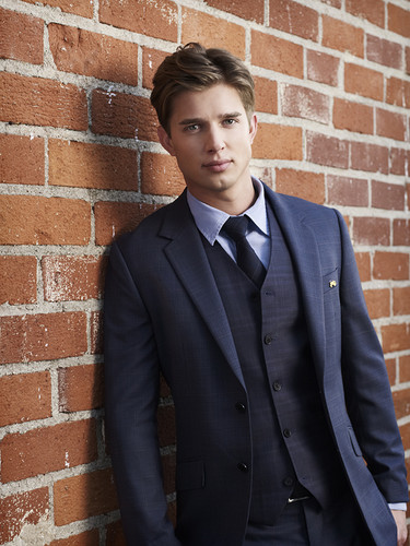 Drew furgone, furgone, van Acker wallpaper with a business suit, a suit, and a double breasted suit titled Drew