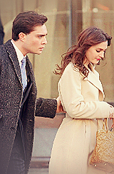 Ed/Leighton being adorable on the set of GG