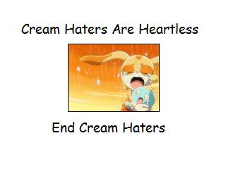 Cream the Rabbit দেওয়ালপত্র entitled End Cream Haters