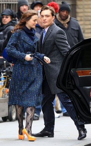 Gossip Girl Set - March 5, 2012 - ed-westwick Photo