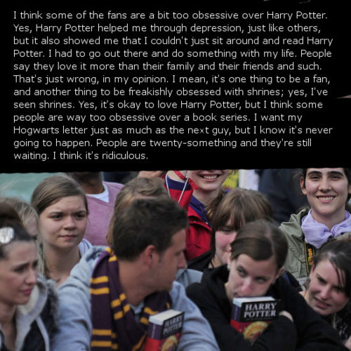 Harry Potter Confession: Obessive Fans