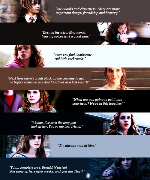 Hermione Jean Granger (favorite movie quotes)