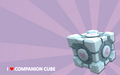 I ♥ Companion Cube - portal-2 wallpaper