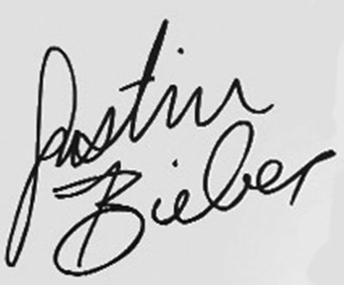 Justin Bieber wallpaper entitled JB's signature