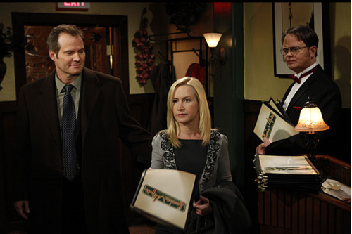 Jack Coleman - Rainn Wilson - Angela Kinsey in The Office