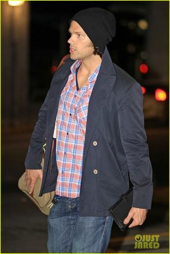 Jared Padalecki arrive at the airport in Vancouver