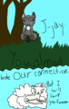Jayfeather and Half Moon - jayfeather fan art