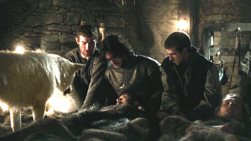 Jon Snow with Pypar, Grenn and Rast