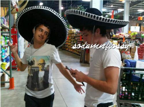 Josh Hutcherson with his brother Connor