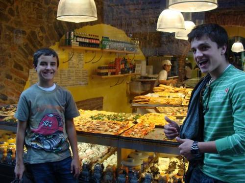 Josh Hutcherson wallpaper possibly containing a grocery store entitled Josh Hutcherson with his brother Connor