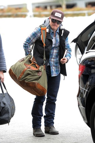 Josh arriving in Chicago