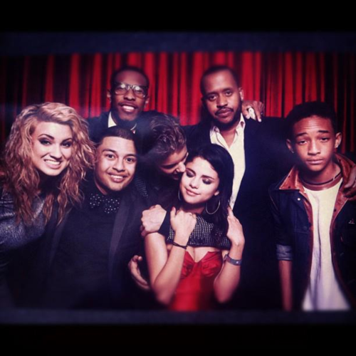 Justin Bieber, Selena Gomez, Alfredo Flores and Ashley Cook