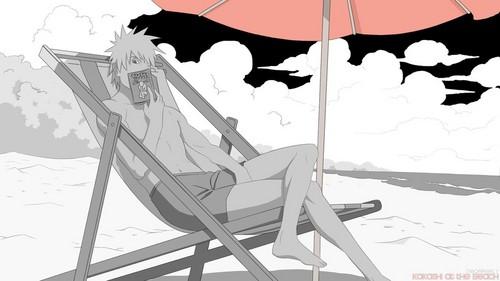 kakashi AT THE pantai