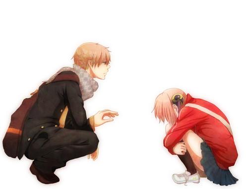 Kagura and Sougo