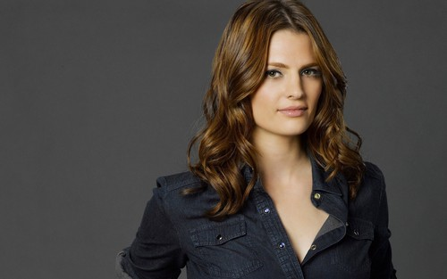 Kate Beckett wallpaper probably containing a pea jacket, a well dressed person, and a trench coat entitled Kate <33