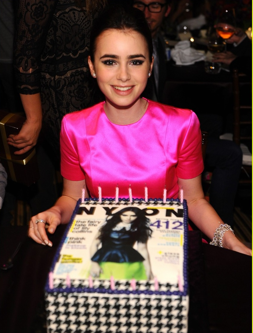 Lily Collins: Nylon Cover Party! - lily-collins photo
