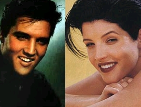 Elvis Aaron Presley and Lisa Marie Presley wallpaper with a portrait titled Lisa & Elvis