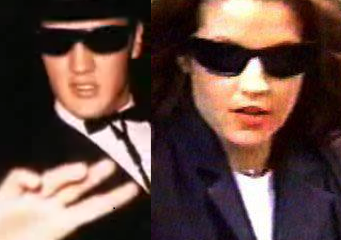 Elvis Aaron Presley and Lisa Marie Presley wallpaper containing sunglasses titled Lisa & Elvis