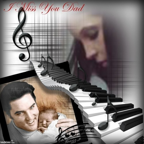 Elvis Aaron Presley and Lisa Marie Presley wallpaper called Lsia & Dad