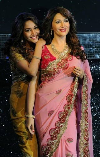 Madhuri Dixit at Madame Tussauds