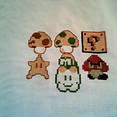 Mario Brothers Cross-Stitch