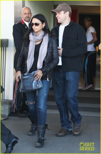 Matt Damon: Back in L.A. with Luciana