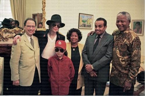 Michael Jackson, Omer Bhatti, Katherine Jackson and Joe Jackson