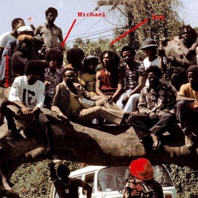 Michael Jackson and Bob Marley