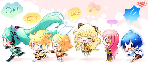 Miku with other Vocaloids