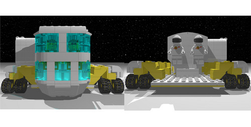 NASA Deep Space Habitat Module and Rover - lego Photo