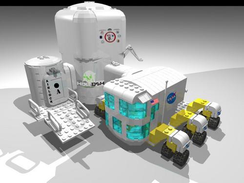 NASA Deep angkasa Habitat Module and Rover