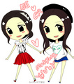 Na Eun and Cho Rong  - a_-pink fan art
