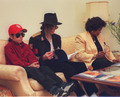 Omer Bhatti, Michael Jackson and Katherine Jackson - michael-jackson photo