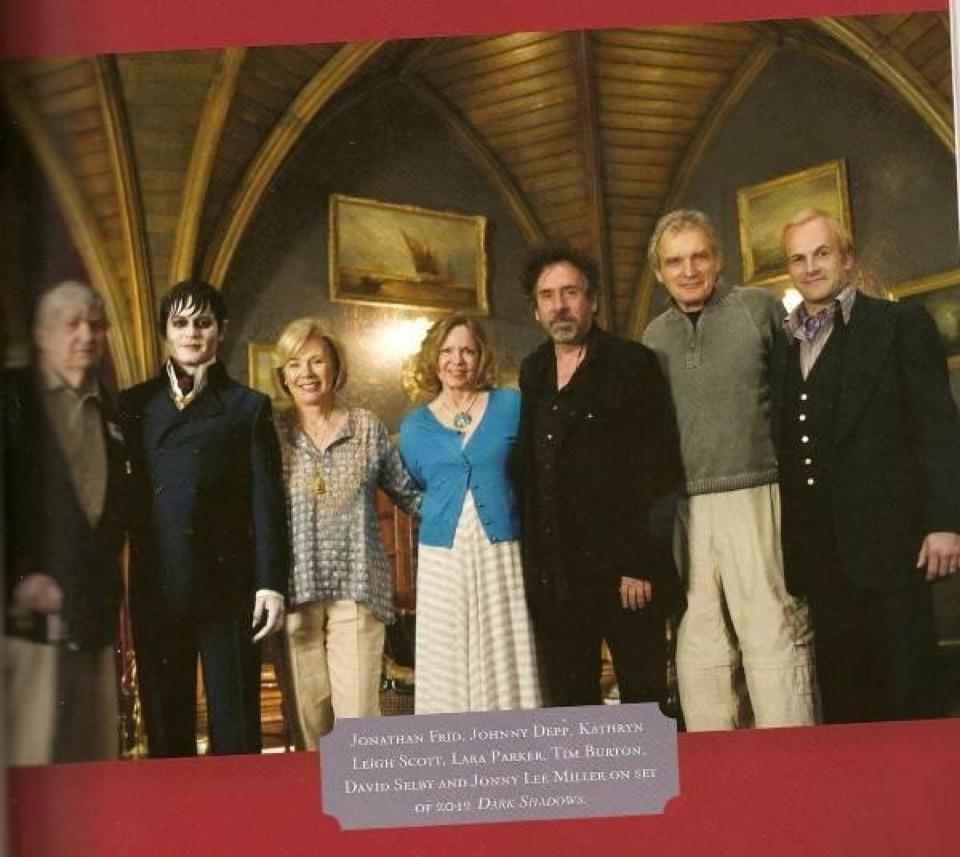 On the set of Dark Shadows with original cast