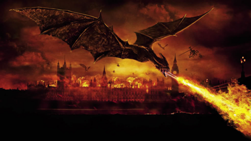 Reign of Fire wallpaper probably with a fountain, a business district, and a rainbow called Reign of Fire