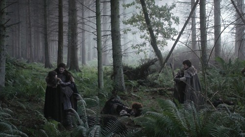 Robb with Bran and Theon