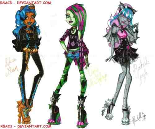 Robecca Steam, Venus mcFlytrap, and Rochelle Goyle fanart - monster-high Photo