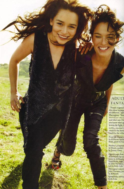 Emilia Clarke & Lena Headey- Rolling Stone Magazine