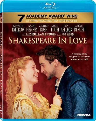 Shakespeare in upendo Blu-ray cover
