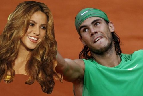 Singer Shakira watches Rafal Nadal