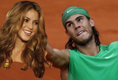 Singer shakira watches Rafal Nadal