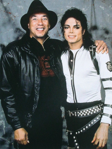 Smokey Robinson and Michael Jackson